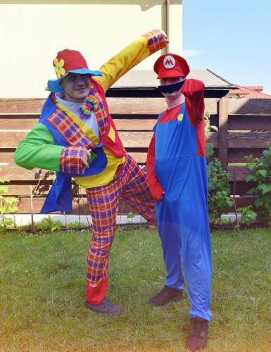 Clown si SuperMario - animatori AnimaDisney